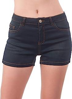MixMatchy 女式轻质贴身舒适翻边短裤带口袋