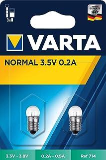 Varta 714 白炽灯 螺丝底座 3.5 伏 0.2 安 2 件装