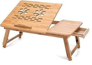 "THY COLLECTIBLES 多功能竹菜桌笔记本电脑支架早餐托盘带可调节支架的19 3/4"" 长 x 11 3/4"" 宽"