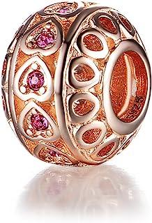 GW 925 纯银串珠银色魅力手链锆石手链蛇形项链DIY女式珠宝