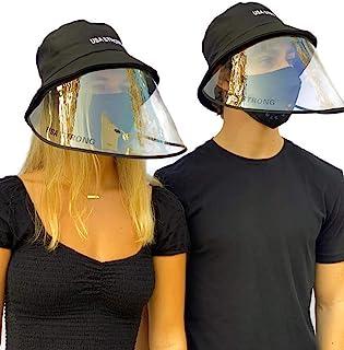 """USA STRONG"" 定制标志   黑色   *全脸盾形渔夫帽带可拆卸遮阳板   防风防尘适用于室内和室外"