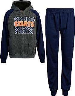 Pro Athlete 男童 2 件运动抓绒慢跑裤套装