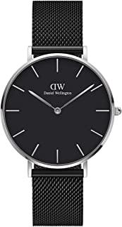 Daniel Wellington Petite Ashfield Watch, Matte Black Mesh Bracelet