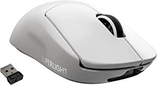 Logicool G PRO X SUPERLIGHT ワイヤレス ゲーミングマウス、ロジクールG史上最軽量63g未満、LIGHTSPEED無線 HERO 25Kセンサー POWERPLAY無線充電対応、 G-PPD-003WL-WH ホワイト...