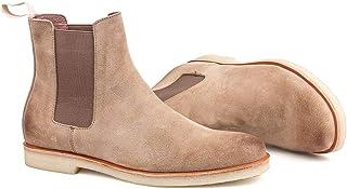 LOS CHOMO 绒面革切尔西靴男式高帮及踝休闲靴