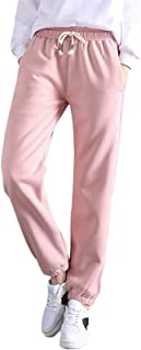 女式抽绳运动裤冬季保暖厚羊毛内衬慢跑裤宽松睡衣休闲运动裤