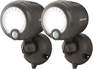 Mr. Beams MB360XT-WHT-02-00 无线电池供电户外运动传感器激活 200 lm LED 聚光灯(2 只装) 棕色 2 件装 MB360XT-BRN-02-00