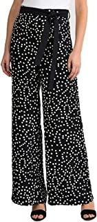 Joseph Ribkoff 黑色和白色波尔卡圆点印花裤款式 201486-2015 春季系列