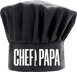 男士厨师帽趣味黑色,厨师爸爸烹饪帽子可调节厨房厨师帽礼物送给爷爷生日父亲节圣诞节