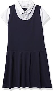 The Children's Place 女童制服罗纹针织二合一连衣裙