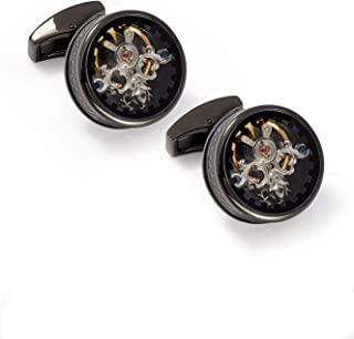 Tateossian 单个 Tourbillon Gear 袖扣 青铜色和黑色珐琅