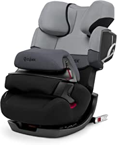 CYBEX Silver Pallas 2-Fix 2-in-1 Child's Car Seat, For Cars with and without ISOFIX, Group 1/2/3 (9-36 kg), From approx. 9 Months to approx. 12 Years, Cobblestone