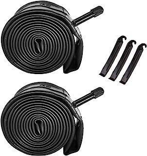 COWFEX 26 英寸自行车管,2 件装 26 x 1.90 / 26 x 1.95 / 26 x 2.10 / 26 x 2.125 自行车管替换装 32 毫米 Schrader 气门山地自行车内管耐用丁基橡胶自行车轮胎管