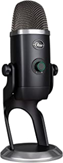 Blue Microphone Yeti x专业电容 USB 麦克风,具有高分辨率测光、LED 照明和 Vo.Ce 效果,适用于 PC 和 Mac 上的游戏、流媒体播放和播客-Blackout