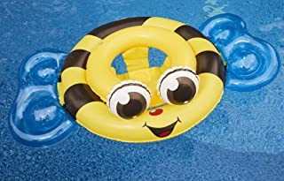 fun Toys Summer Waves Baby(附赠SD* Puggy Fish)婴儿幼儿充气游泳环泳池海滩湖泊浮动〜大黄蜂和护目镜套装
