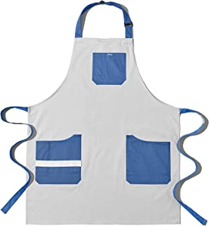 围裙,3 个宽敞口袋的围裙,* 纯棉厨房烹饪围裙,带可调节肩带,女式厨师围裙,男式围裙