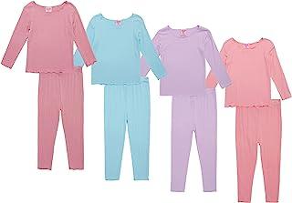 Mon Petit 女婴睡衣 - 8 件套 T 恤和裤子(婴儿/幼儿/女童)