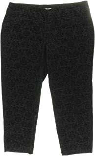 ♣Club 女士加大冬季庄园直筒裤黑色 24W
