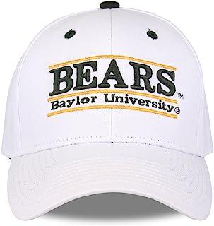 NCAA 贝勒熊中性款 NCAA 赛道设计帽熊,白色,可调节