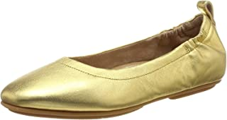 FitFlop 女式 Allegro Metallic Ballerinas 芭蕾平底鞋