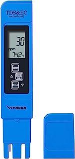 VIVOSUN TDS 测试仪 3 合 1 TDS EC & 温度计 超高精度数字水质 TDS 测试仪(蓝色)