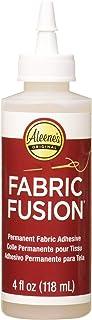Aleene's Fabric Fusion 永久性织物粘合剂 3 件装,4 盎司