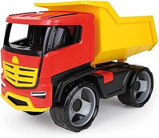 Lena 02143 - 强劲的巨型GIGA 卡车多功能卡车钛合金,倾斜式车,约 51 厘米,大型建筑工地玩具车,适合 3 岁以上儿童,稳定的翻斗卡车,引人注目和现代,带倾斜凹槽