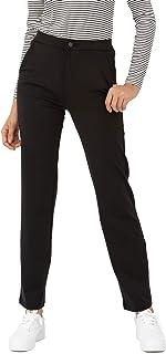 Bamans 女式休闲工作正装裤带口袋直筒裤