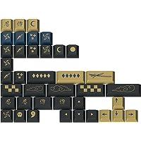 Drop + Redsuns GMK 蓝色武士定制机械键盘新奇键帽套装 - 39 键,双排 ABS,樱桃色轮廓(蓝色,新…