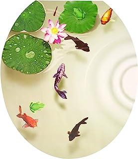 Honbay 3D 莲花池塘马桶座贴纸贴花,防水,可拆卸