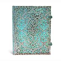 paperblanks 愛爾蘭 Silver Filigree系列橫線筆記本大號 瑪雅藍 PB2560-3