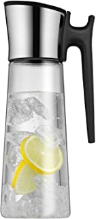 WMF 福腾宝 基础款玻璃水瓶 高度31厘米 Close-Up翻转式瓶塞 Cromargan®不锈钢, 1.5L