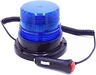 蓝色 LED 闪光灯紧急磁性警告闪光灯灯灯带 12V 点烟器插头适用于卡车汽车救护车校车(*版)