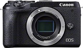 Canon 佳能 EOS M6 Mark II 系统相机(32500万像素 APS-C CMOS 传感器 7.5 厘米(3.0 英寸)触摸屏 液晶显示屏 Digic 8 4K 视频 WLAN 蓝牙)机身黑色