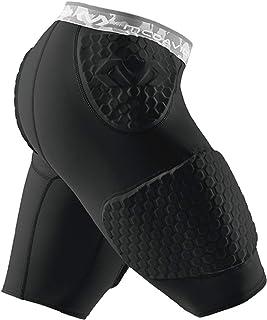 McDavid 迈克达威 六角短裤,带波状包裹大腿,中号,黑色