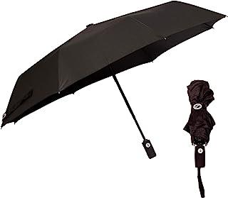 Optimum 男女通用黑色自动雨伞防风加固框架,小号