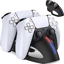 Kydlan PS5 控制器充电器站,双充电站底座,适用于 Playstation 5 Dualsense 控制器,PS5 充电器支架带 LED 指示灯