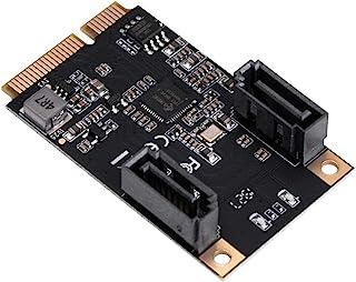 IO CREST M.2 22x42 PCIe 接口至 2 端口 SATA III 扩展卡 Jmicro JMB582 芯片组,为任何 M.2 M-Key 插槽 SI-MPE40150 添加两个 SATA 3.0 端口