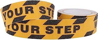 看着您的踏步地板标牌,重型防滑*卷抓地带防滑牵引步带,2 英寸 X 16.4 英寸防滑胶带贴纸,适用于楼梯、*、踏步、室内的磨料粘合剂