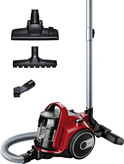 Bosch 博世 bgc05aaa2 GS05 cleann 一个吸尘器,无袋的吸尘器,设计电脑设计,可洗的 HEPA H12 过滤器,镶木吸嘴 敏感地板,700 W,1.5 升,78 个装饰条,红色和黑色
