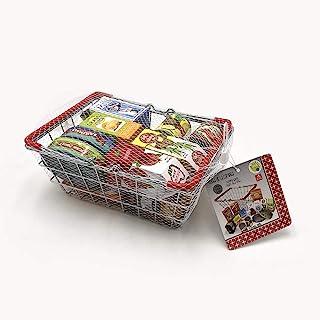 Tachan 729T00489 金属购物篮,带食品,15件