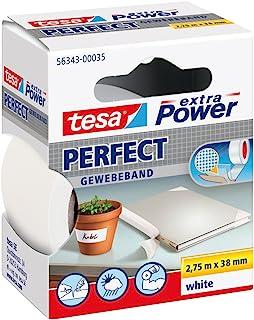 tesa 德莎 德国进口 超强自粘型棉布胶带 尽显完美品质 尺寸为2.75m*38mm 白色