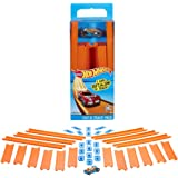 Hot Wheels Track Builder Straight Track with Car, 15 Feet…
