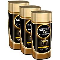 Nescafé Typ Espresso, Löslicher Kaffee Glas, 3er Pack (3 x 1…