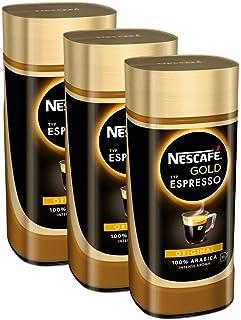 Nescafé Typ Espresso, Löslicher Kaffee Glas, 3er Pack (3 x 100 g)
