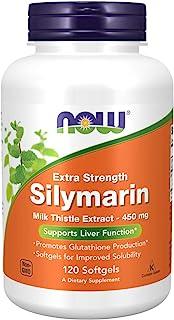 NOW Foods - 水飞蓟素水飞蓟提取额外强度 450 mg。 - 120软胶囊