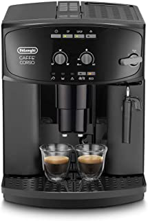 De'Longhi 德龙 Caffé Corso ESAM 2600 全自动咖啡机 带有奶泡器,可制备卡布奇诺,带有制备意式浓缩(Espresso)控制键盘 带有旋转控制,2杯功能,1.8升水箱,黑色