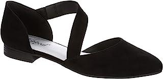 XAPPEAL Dalya – 女式一脚蹬绑带强调闭尖头芭蕾平底鞋 低粗跟设计