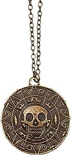 Boland 74126 - 海盗项链,时尚首饰,带吊坠,适合成人,海盗雕塑,骷髅,海盗,自由袋,狂欢节,狂欢节,万圣节,主题派对