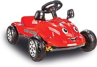 Jamara 460288 汽车红色 - 驾驶踏板,侧镜,喇叭